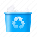 bin, delete, empty, garbage, recycle, trash icon