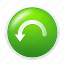 back, previous, restore, rollback, undo icon