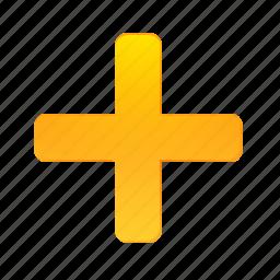 add, cross, new, plus icon