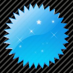 badge, mark, new, spark, star icon