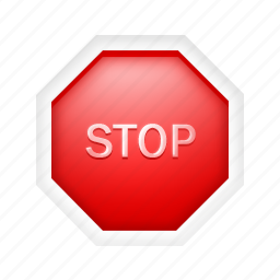 alert, attention, danger, sign, stop, warning icon