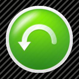 back, previous, restore, rollback, undo icon