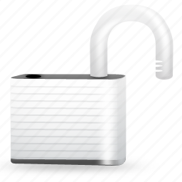 lock, password, private, protect, protection, secure, security, unlock icon