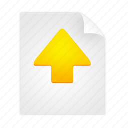arrow, direction, document, move, up icon