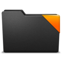 corner, orange, ribbon icon