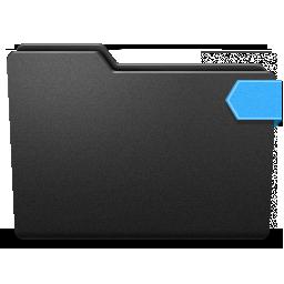 blue, ribbon, top icon