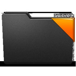 corner, orange, ribbon icon