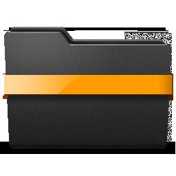 middle, orange, ribbon icon