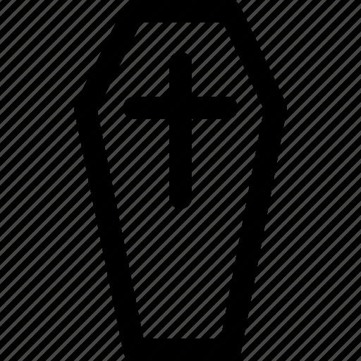 coffin, dead, death, funeral, grave, horror, rip icon