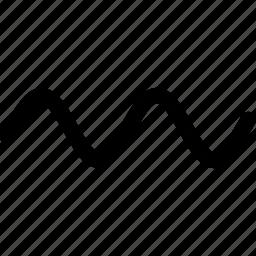analysis, audio, graph, sine, sound, wave, waveform icon