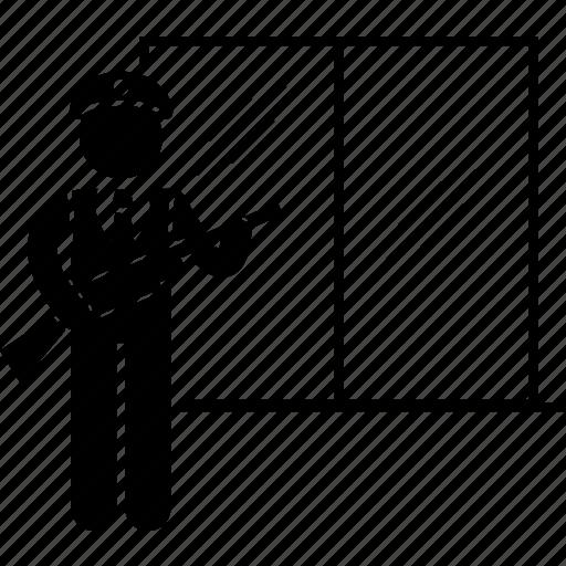 dispatcher, guard, gun, police, policeman, security icon