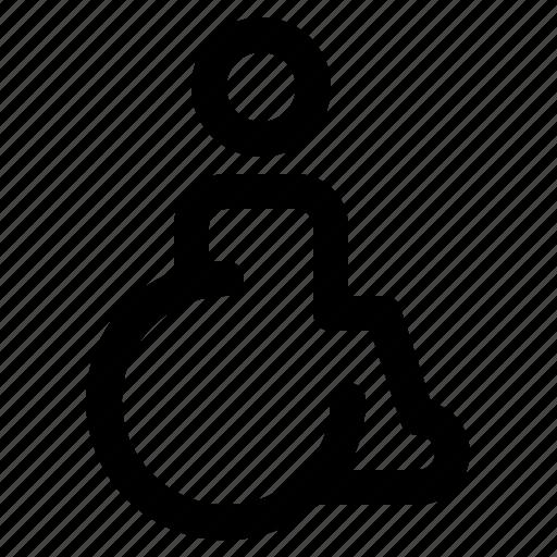 accessible, disable, disabled, handicap, public, service icon