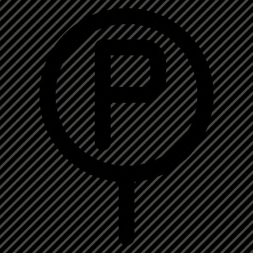 lot, parking, public, service, sign icon