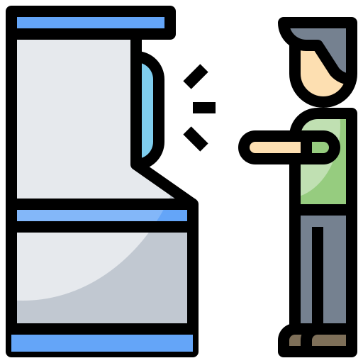 atm, bill, cash, money, point, withdrawal icon
