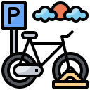 bicycle, bicycles, parking, sign, signals, transportation icon