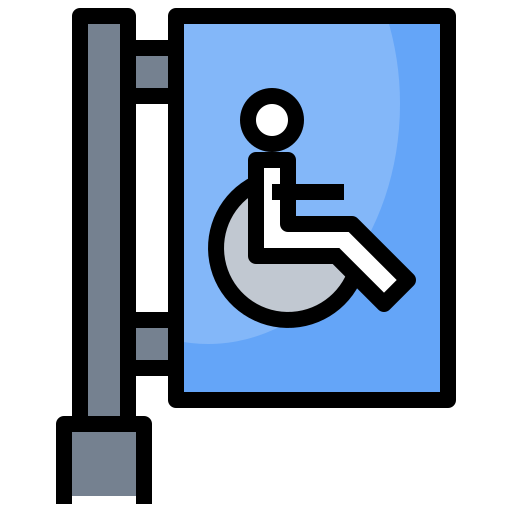 accessibility, disability, disabled, handicapped, sign, signaling, wheelchair icon