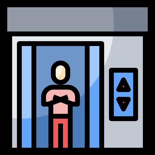 Doors, electronics, elevator, hotel, lift, transportation icon - Free download