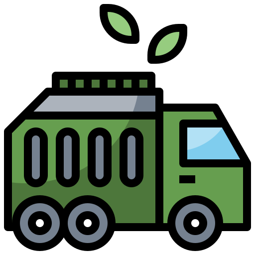 automobile, garbage, recycling, transportation, trash, truck, vehicle icon