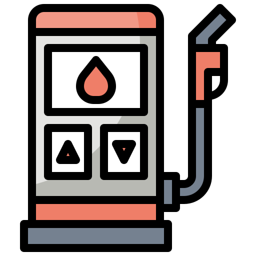 buildings, charging, fuel, gas, industry, station, transportation icon