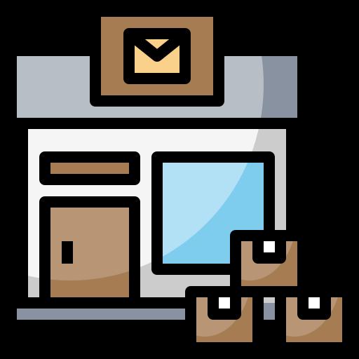architectonic, office, post, postal, urban icon