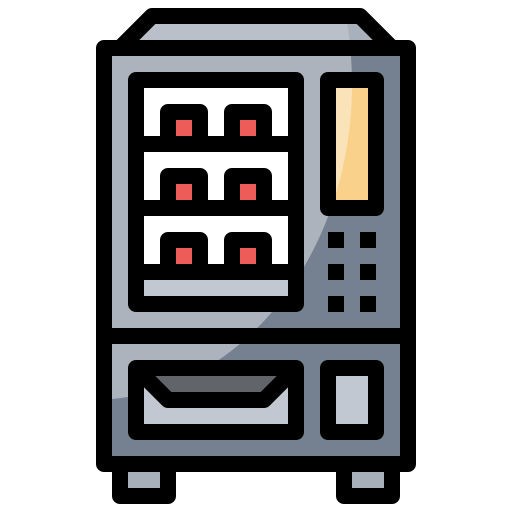 Beverages, drinks, machine, snacks, technology, vending icon - Free download