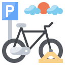 bicycle, bicycles, parking, sign, signals, transportation
