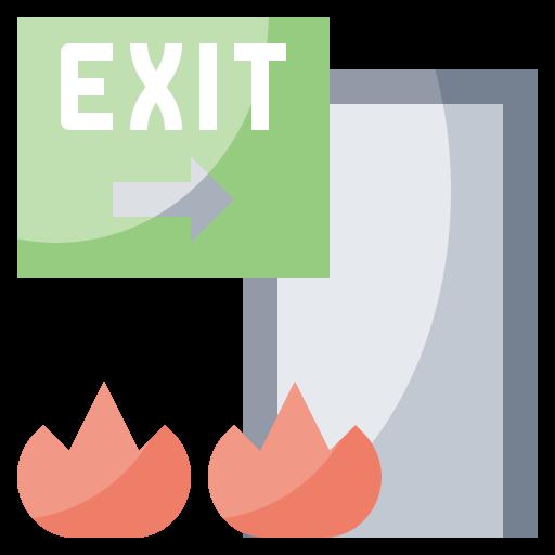 Arrow, direction, door, emergency, exit, signaling, signs icon - Free download