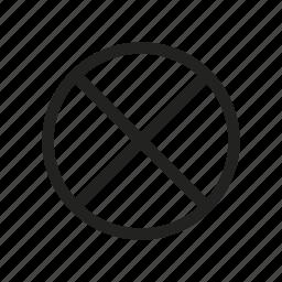 ban, banned, delete, forbidden, no, prohibited icon