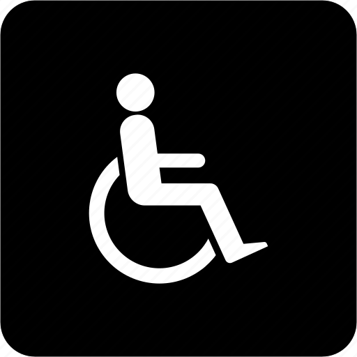 disabled, handicap, patient, welching, wheelchair, wheeling icon