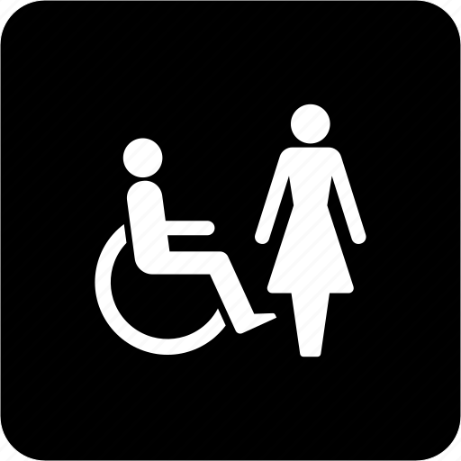 bathroom, makeup room, restroom, toilet, toilet for wheelchair user, washroom icon