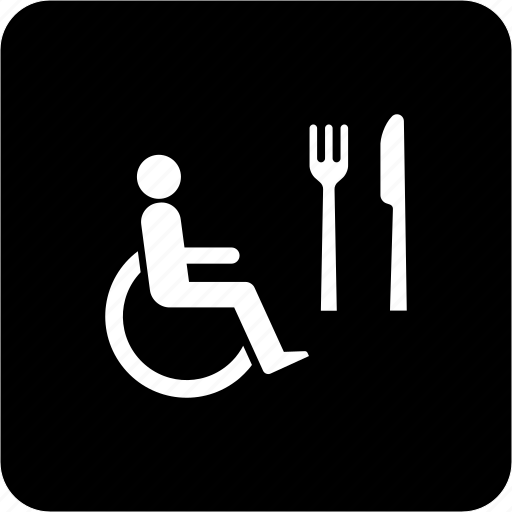 cantin, dining room, outlet, supply, wheelchair public restaurant icon