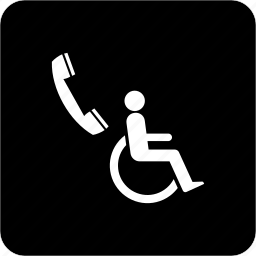 call, communication, phone, phone for wheelchair user, telephone icon