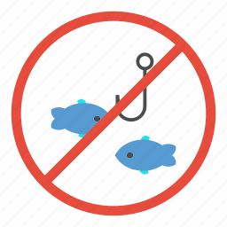 fish, fishing, forbidden, no, not allowed, prohibited, warning icon