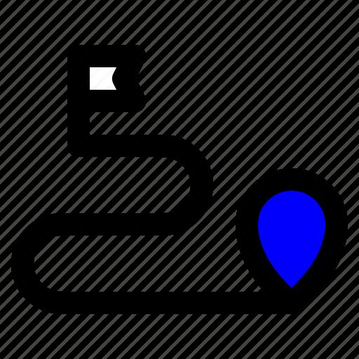 destination, map, route, transportation, travel icon