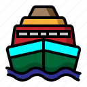 sea craft, ship, shipboard, transportation icon