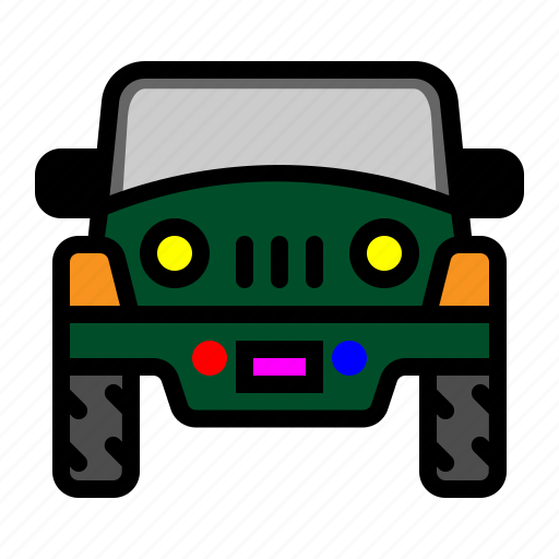 car, jeep, private transportation, transportation icon