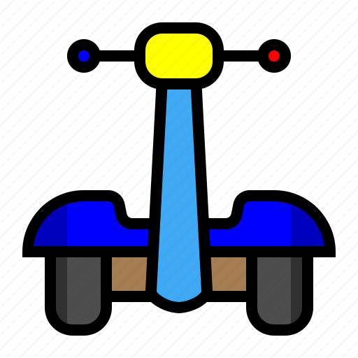 hoverbike, hoverboard, segway, transportation icon