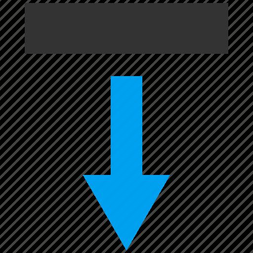arrow, download, guardar, move down, navigation, pointer, save, send icon
