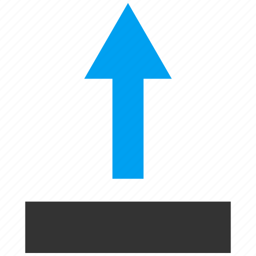 arrow, direction, move, navigation, pointer, send up, upload icon