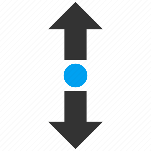direction, enlarge arrows, expand, maximize, navigation, resize, stretch vertical icon
