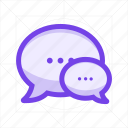bubble, chat, mail, message, send, sms, text