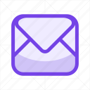 communication, email, letter, mail, message, read, send icon