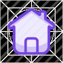 building, estate, home, house, menu, property, start