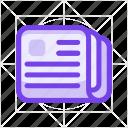 document, file, folder, media, news, newspaper, page icon