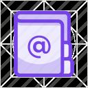 address book, data, document, folder, note, notebook, phonebook icon