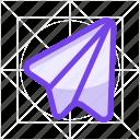 flight, fly, mail, message, paper flight, plane, send