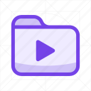 document, file, file format, folder, music, play, playlist icon