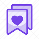 favorite, heart, label, price, sale, star, tag icon