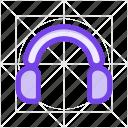 audio, earphone, listen, music, play, sound, speaker icon