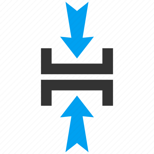 compress vertical, compression, minimize, press arrows, pressure, reduce, shrink icon